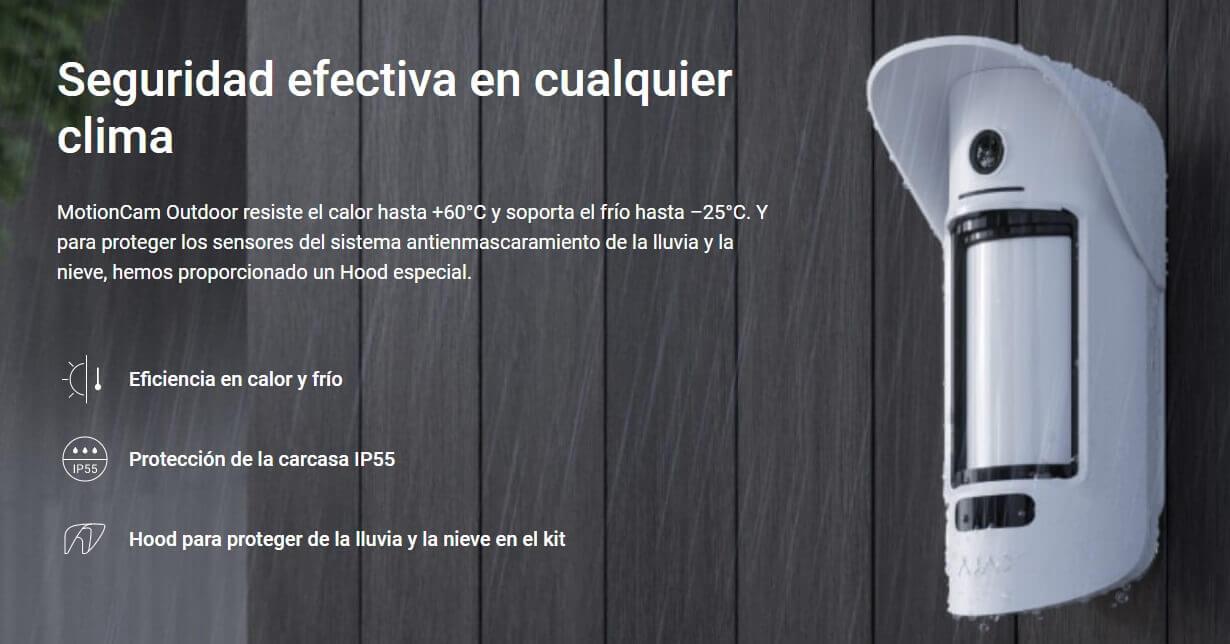 Detector de Moviment Càmera Alarma Ajax | Serveis Telemàtics Palamós